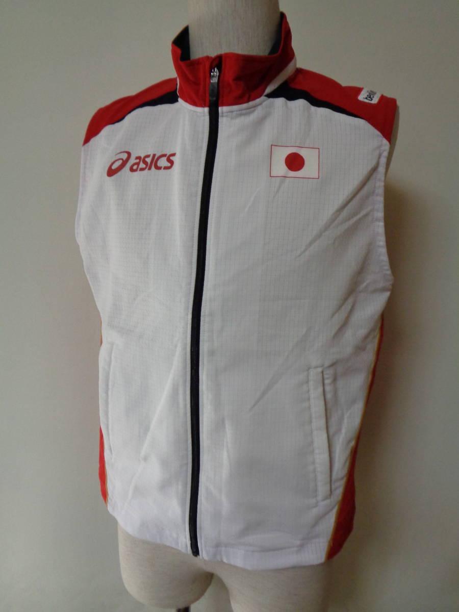 世界陸上競技選手権 アシックス ベスト ドイツ ベルリン asics sizeS 日本代表 トレーニング 選手支給 japan _画像1