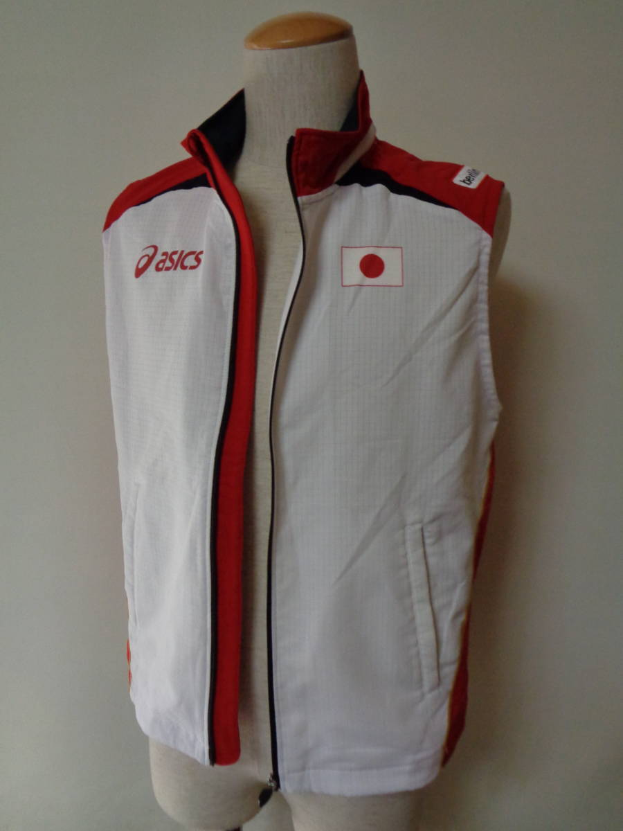世界陸上競技選手権 アシックス ベスト ドイツ ベルリン asics sizeS 日本代表 トレーニング 選手支給 japan _画像2