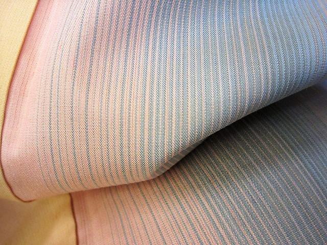★つばめ★ 紅花染~グラデーション・美しい着物~正絹紬・美品_画像10