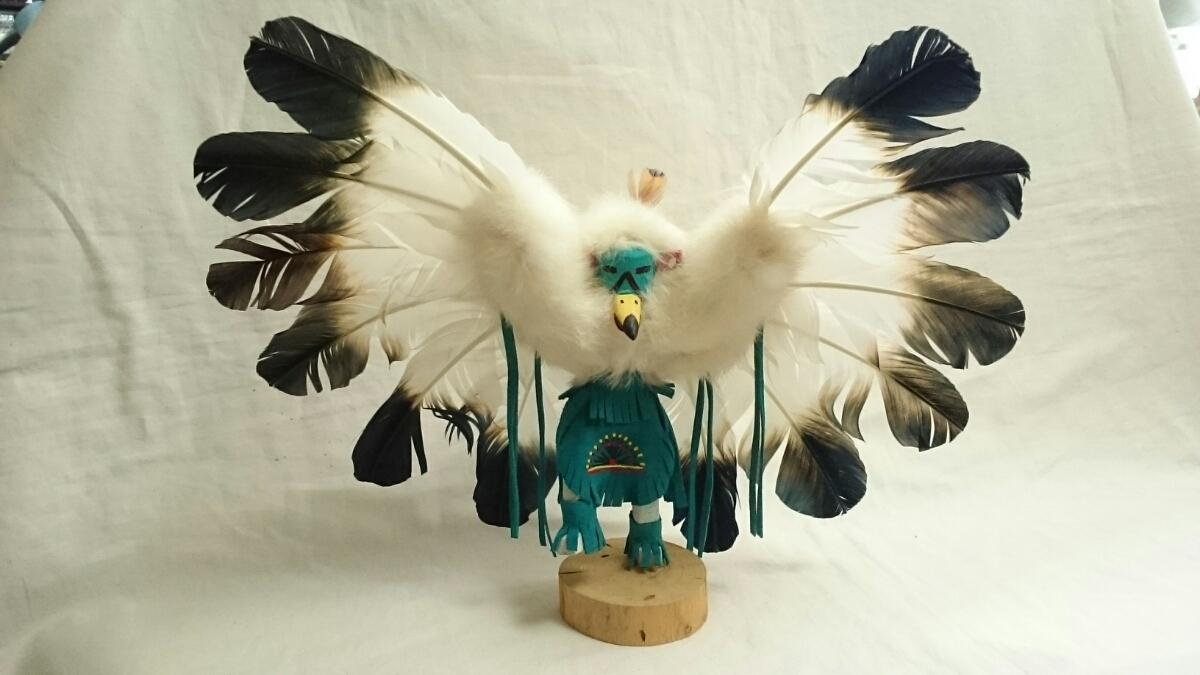 土曜日限定 100円スタート イーグル・ダンサー カチナ ホピ族の儀式 精神世界の住人 カチーナ 精霊 伝統的人形 インディアンジュエリー