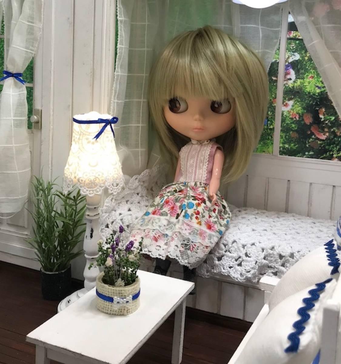 ★ドールハウス DIY 1/6サイズ シャビーシックな白いお部屋 組立式 ブライス momoko バービー リカちゃんに★#32