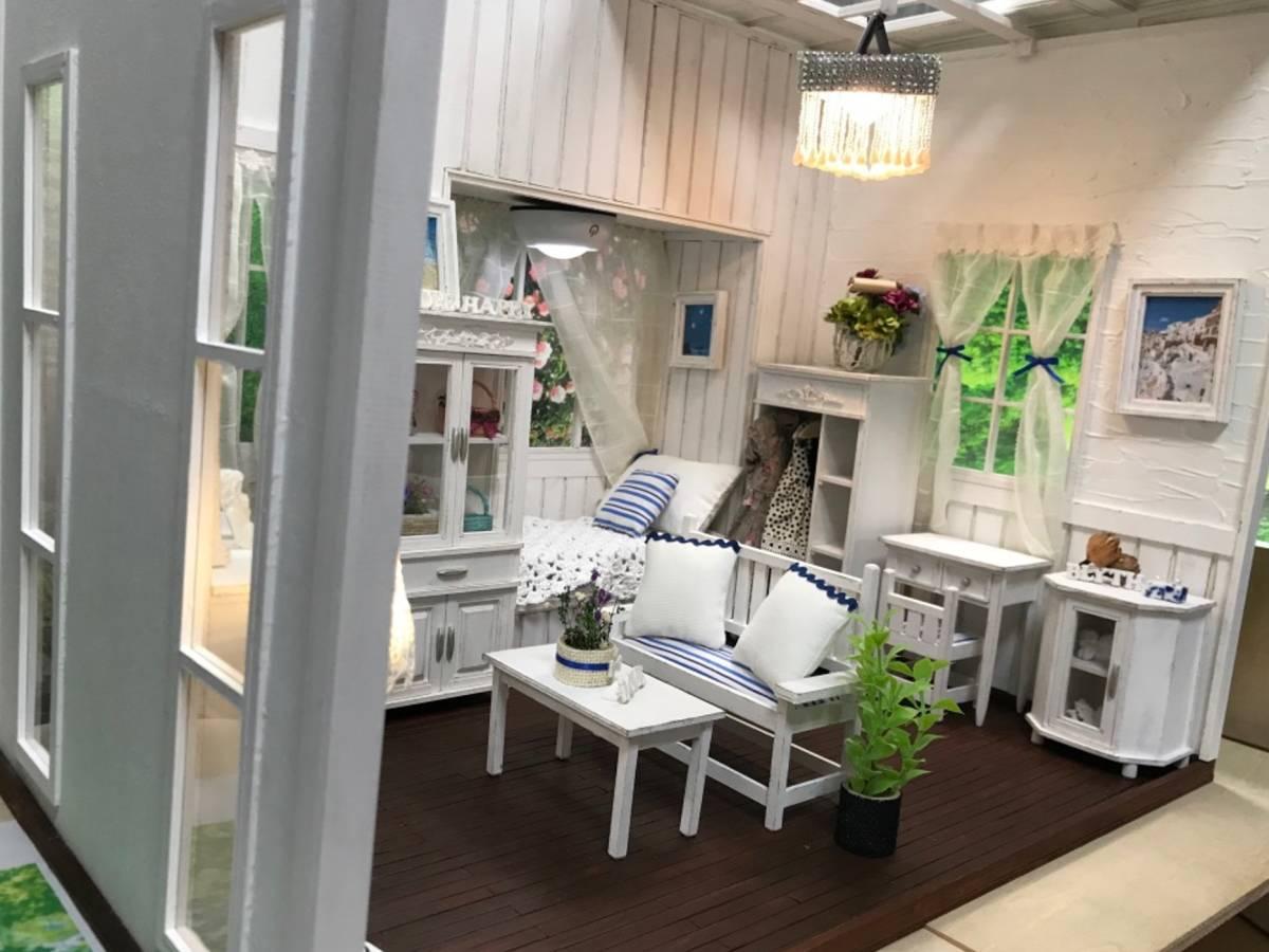 ★ドールハウス DIY 1/6サイズ シャビーシックな白いお部屋 組立式 ブライス momoko バービー リカちゃんに★#32_画像4