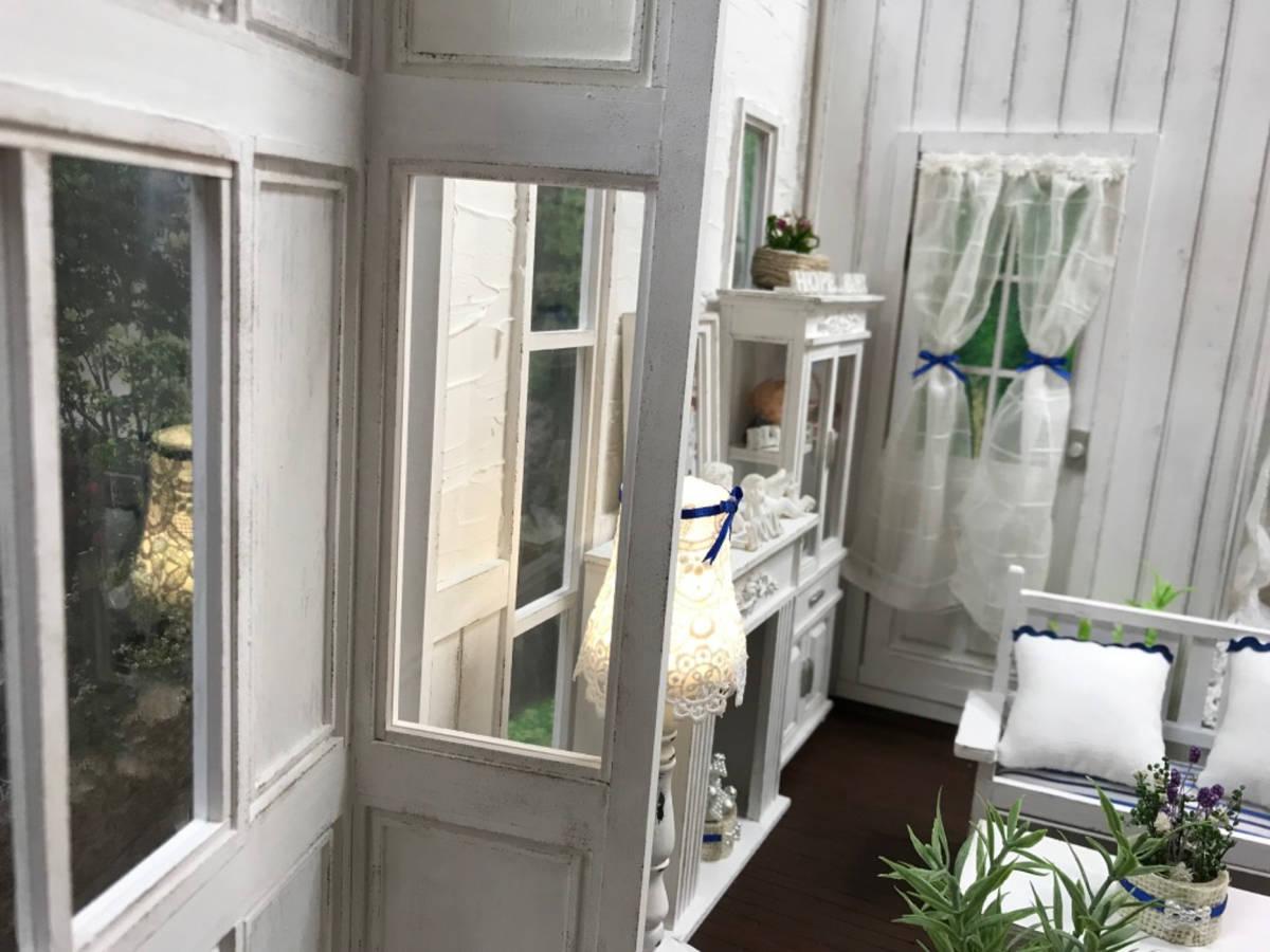 ★ドールハウス DIY 1/6サイズ シャビーシックな白いお部屋 組立式 ブライス momoko バービー リカちゃんに★#32_画像5