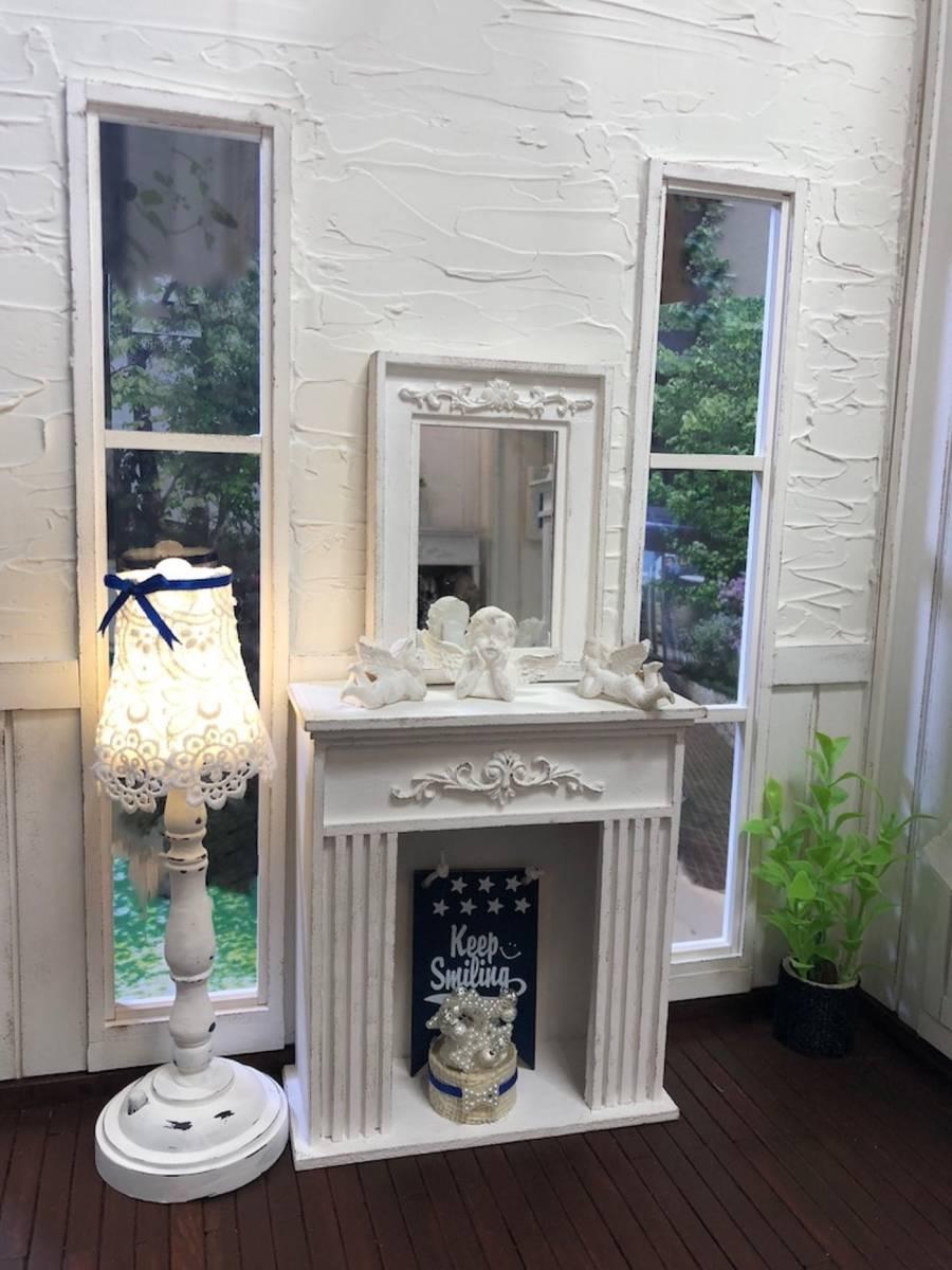 ★ドールハウス DIY 1/6サイズ シャビーシックな白いお部屋 組立式 ブライス momoko バービー リカちゃんに★#32_画像10