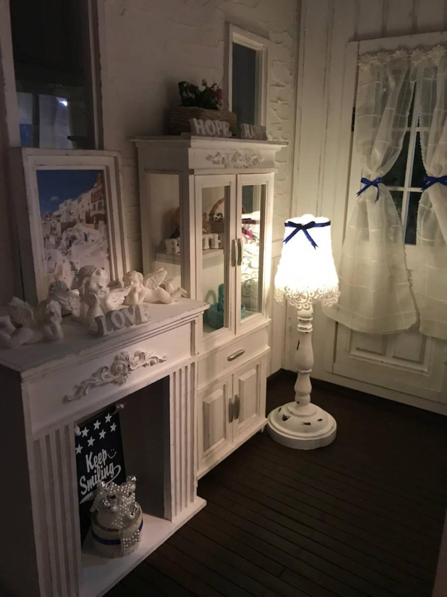 ★ドールハウス DIY 1/6サイズ シャビーシックな白いお部屋 組立式 ブライス momoko バービー リカちゃんに★#32_画像3