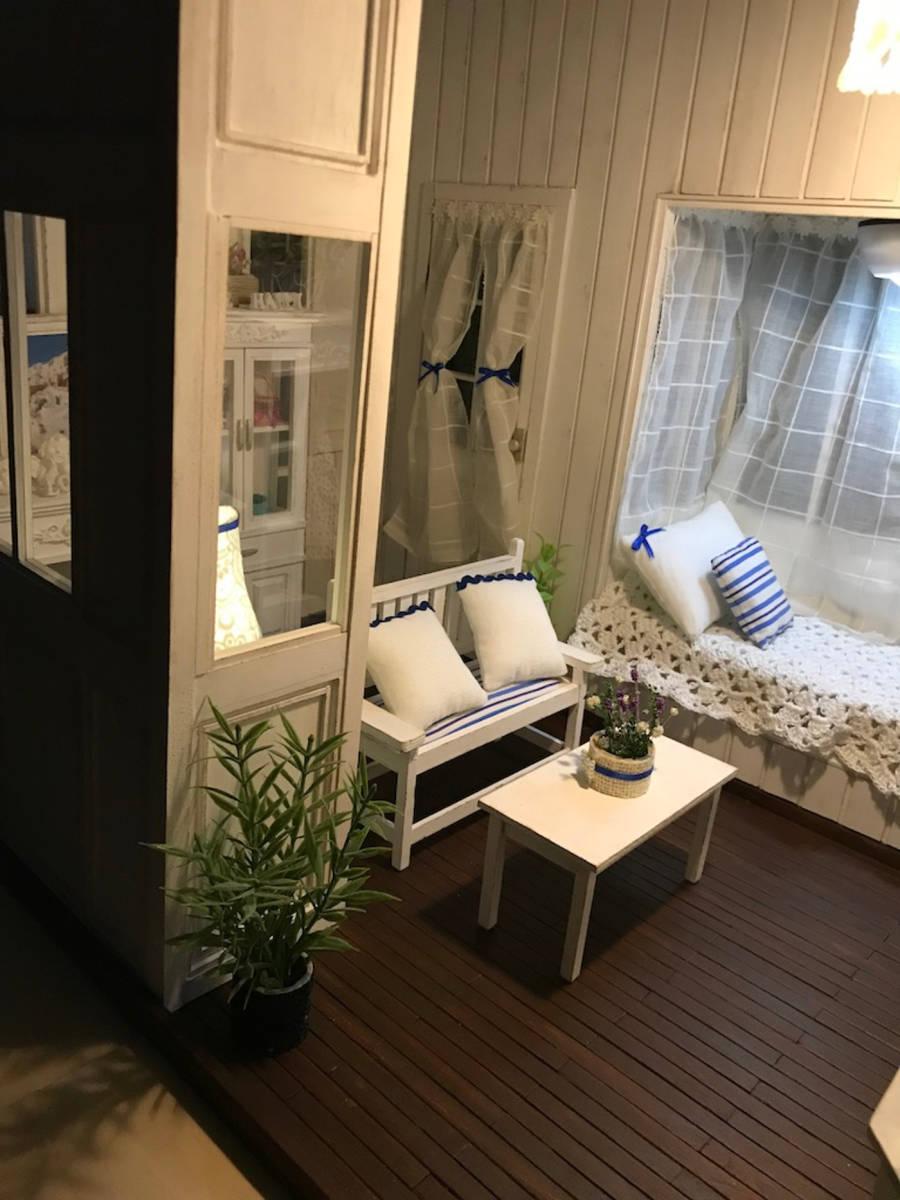 ★ドールハウス DIY 1/6サイズ シャビーシックな白いお部屋 組立式 ブライス momoko バービー リカちゃんに★#32_画像7