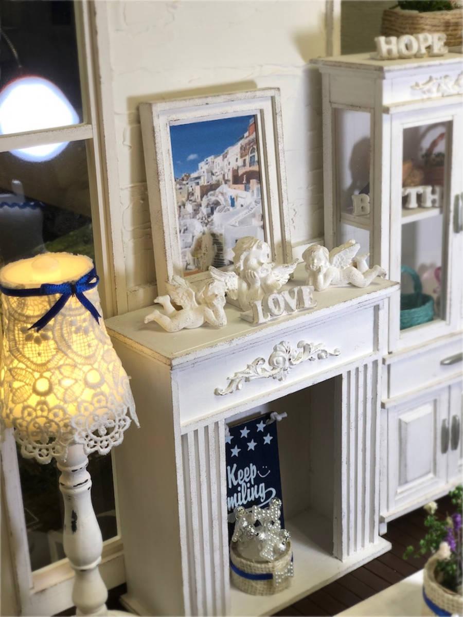 ★ドールハウス DIY 1/6サイズ シャビーシックな白いお部屋 組立式 ブライス momoko バービー リカちゃんに★#32_画像8