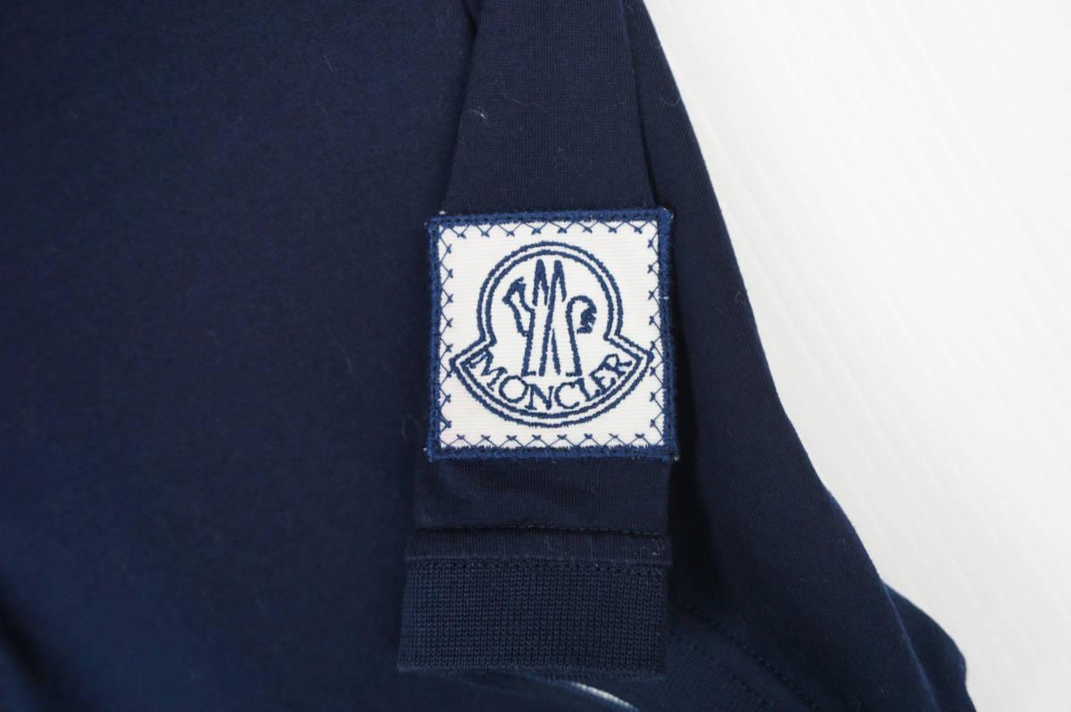 極美品 正規品 モンクレールガムブルー/ ポロシャツ ダークブルー サイズS 認証タグ付 送料込(管理番号JD66)_画像3