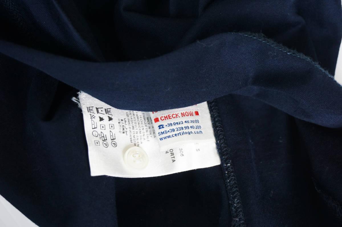 極美品 正規品 モンクレールガムブルー/ ポロシャツ ダークブルー サイズS 認証タグ付 送料込(管理番号JD66)_画像5