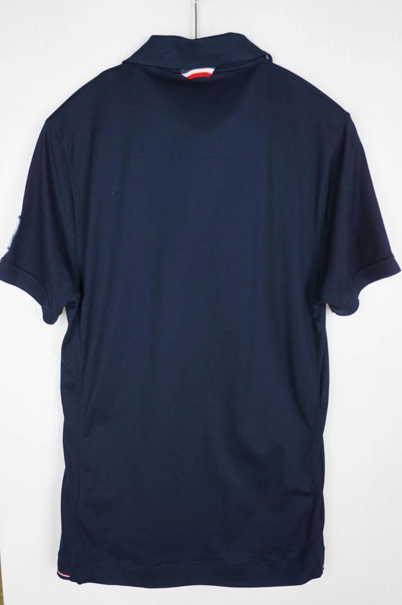 極美品 正規品 モンクレールガムブルー/ ポロシャツ ダークブルー サイズS 認証タグ付 送料込(管理番号JD66)_画像4