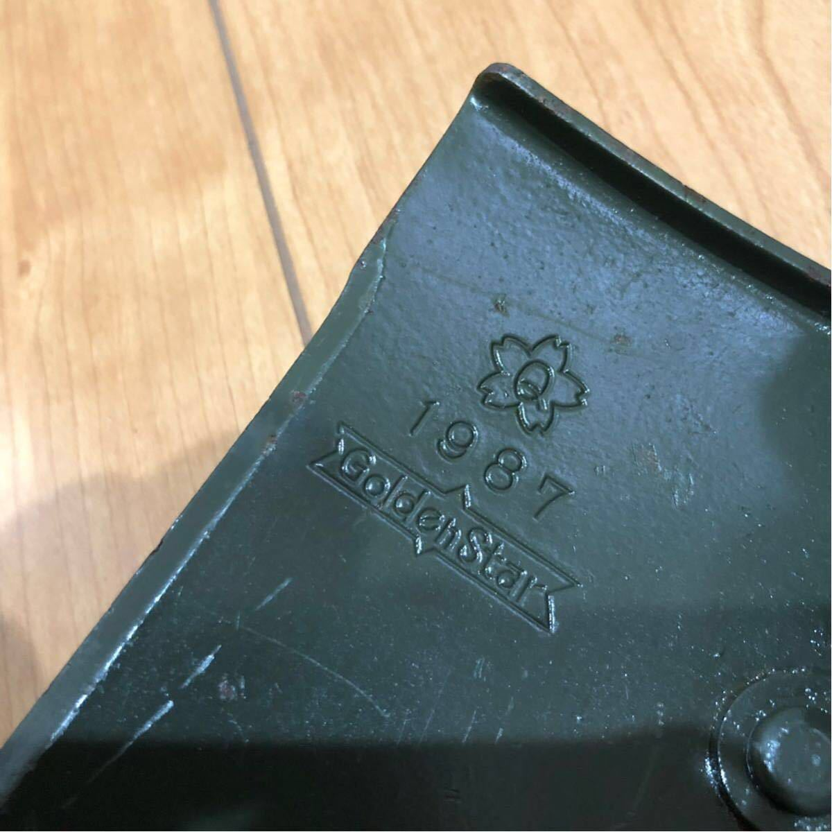 陸上自衛隊 携帯エンピ2型 スコップ 官給品 1987年度調達 中古_画像2