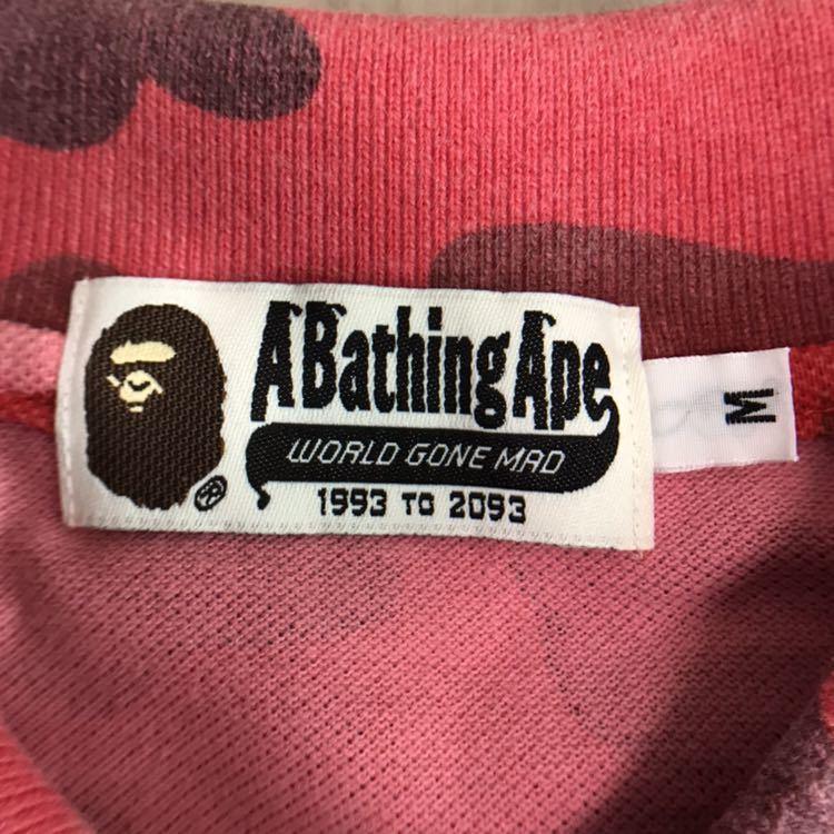 pharrell camo ポロシャツ Mサイズ a bathing ape エイプ ベイプ アベイシングエイプ 迷彩 カモフラ Tシャツ red camo レッドカモ bape_画像6