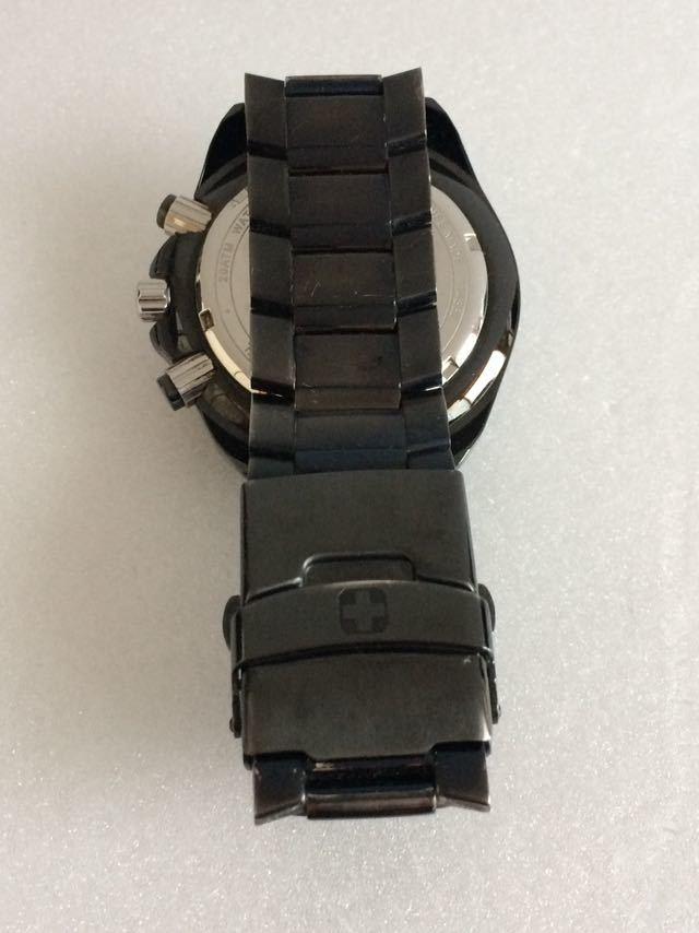 190415-001-1587 SWISS MILITARY HANOWA スイスミリタリー ハノワ メンズ腕時計 金属ベルト ブラック_画像6