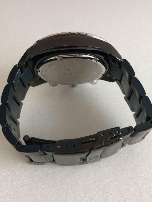 190415-001-1587 SWISS MILITARY HANOWA スイスミリタリー ハノワ メンズ腕時計 金属ベルト ブラック_画像4