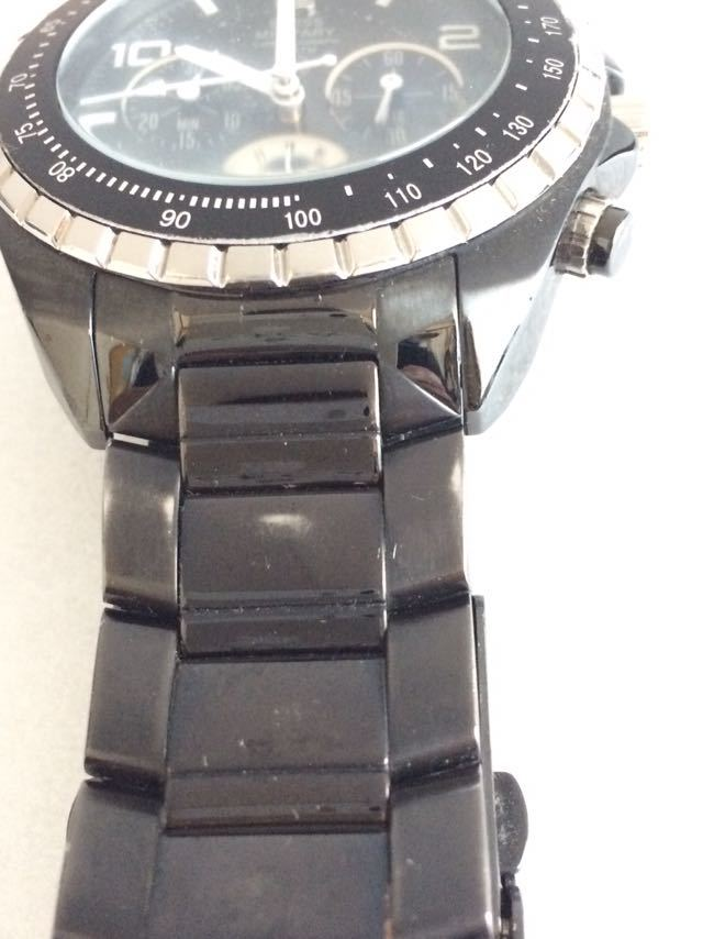 190415-001-1587 SWISS MILITARY HANOWA スイスミリタリー ハノワ メンズ腕時計 金属ベルト ブラック_画像3