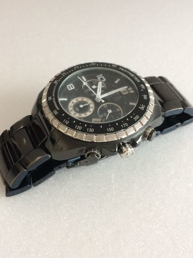 190415-001-1587 SWISS MILITARY HANOWA スイスミリタリー ハノワ メンズ腕時計 金属ベルト ブラック_画像2