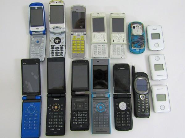 携帯電話 GPS いろいろ 63個おまとめ ガラケー au docomo Softbank まとめ売り 付属品 充電器 部品取り 現状品_画像6