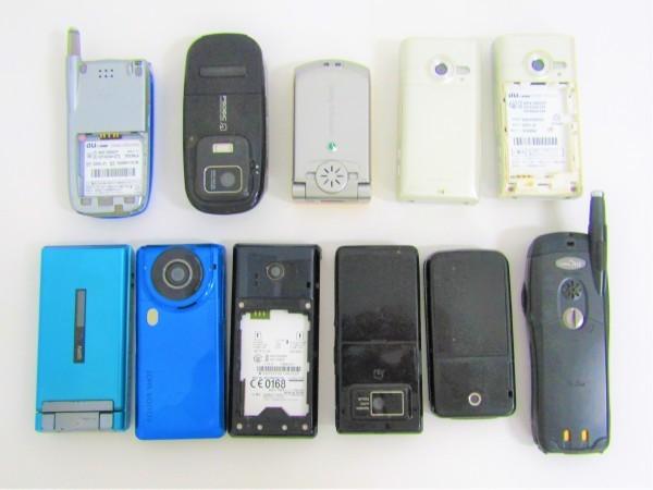 携帯電話 GPS いろいろ 63個おまとめ ガラケー au docomo Softbank まとめ売り 付属品 充電器 部品取り 現状品_画像7