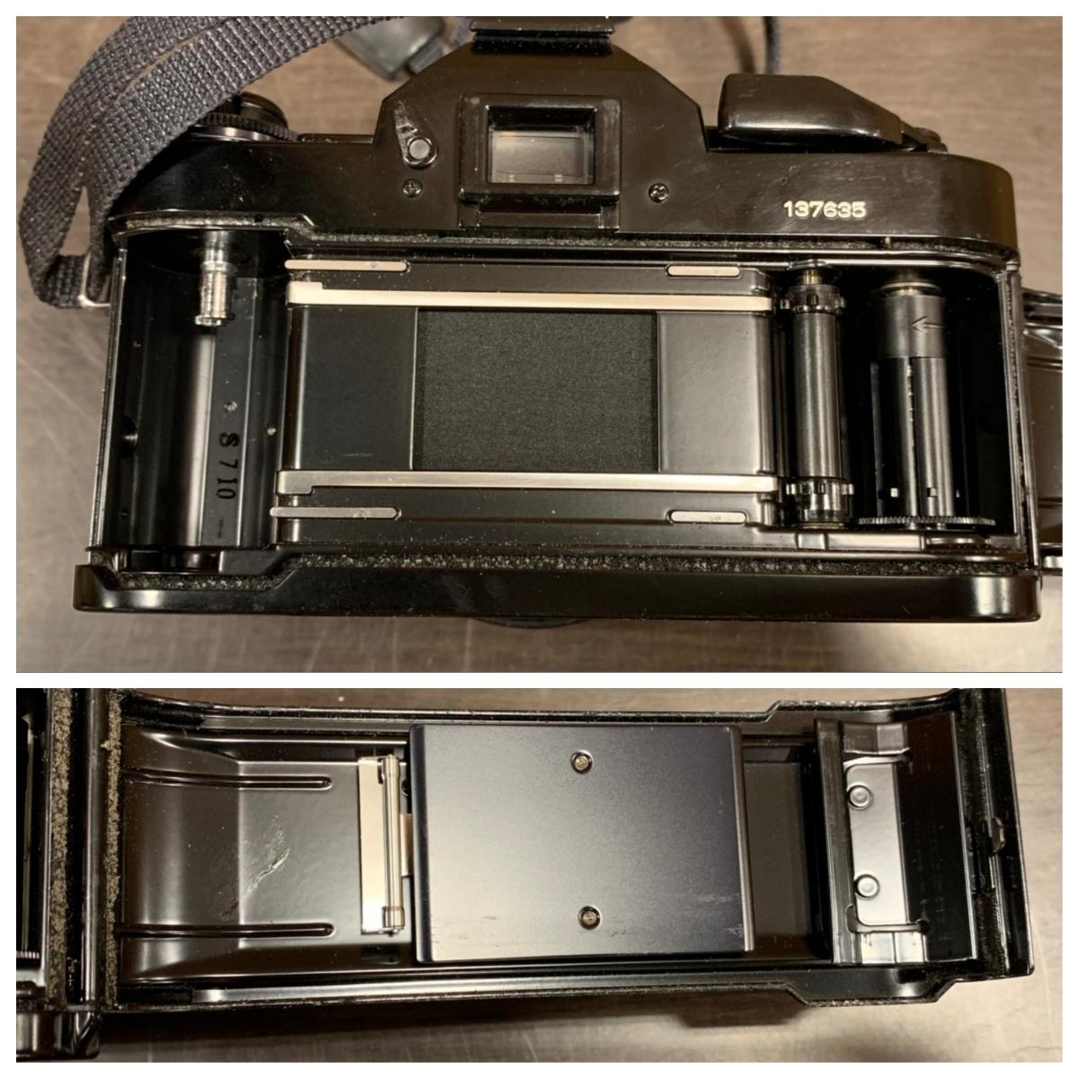 △Canon キャノン A-1 カメラ+FD 50mm 1:1.4+Tokina 80-200mm 1:4 レンズ(KS3-225)_画像7