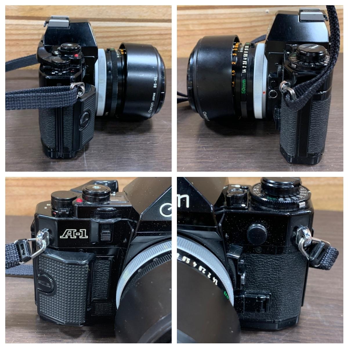 △Canon キャノン A-1 カメラ+FD 50mm 1:1.4+Tokina 80-200mm 1:4 レンズ(KS3-225)_画像5