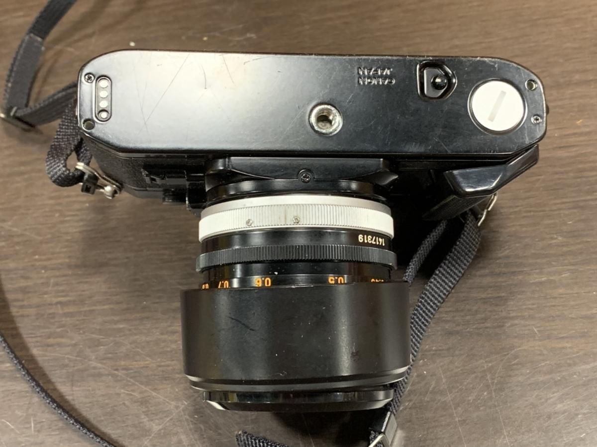 △Canon キャノン A-1 カメラ+FD 50mm 1:1.4+Tokina 80-200mm 1:4 レンズ(KS3-225)_画像4
