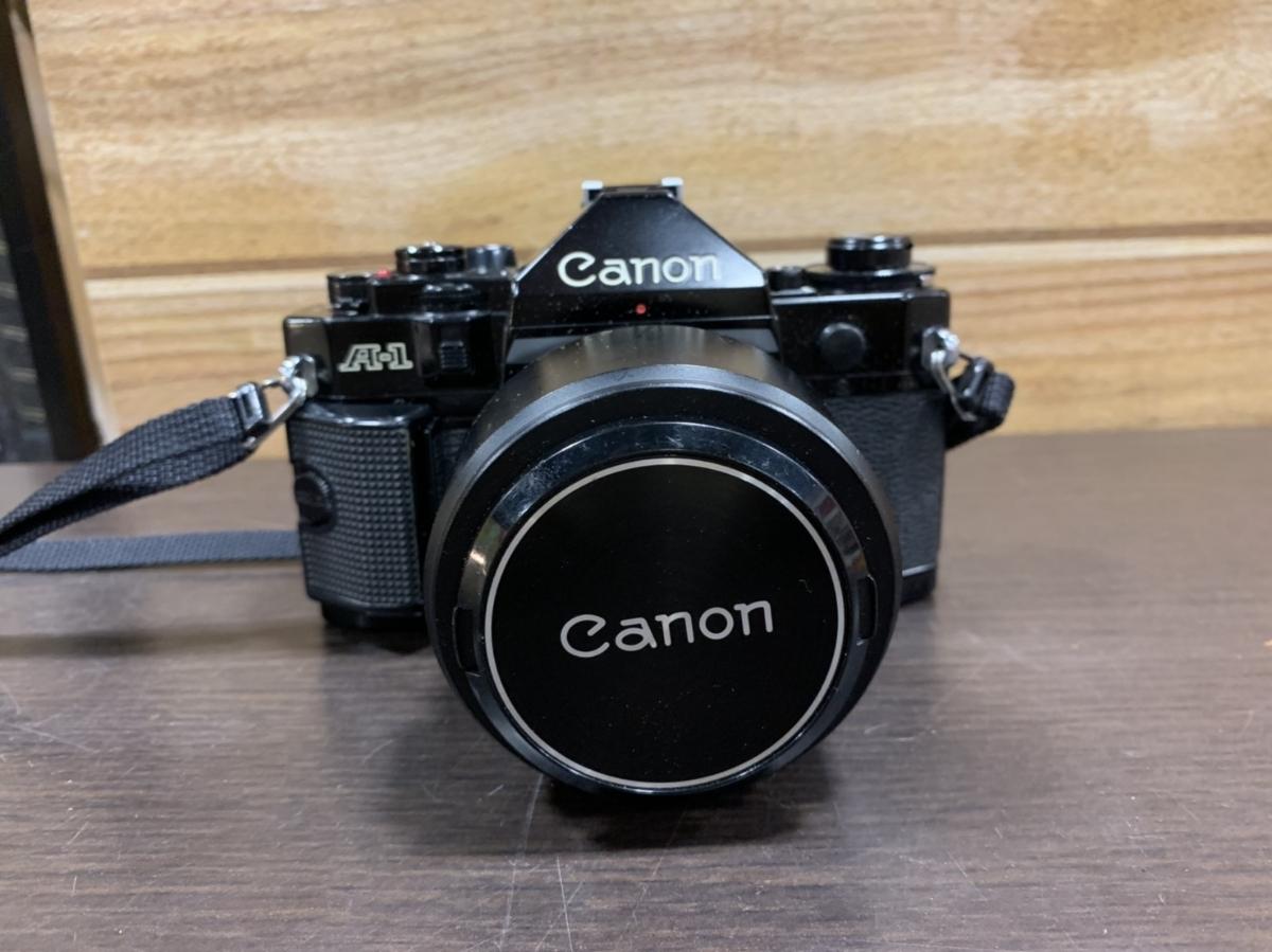 △Canon キャノン A-1 カメラ+FD 50mm 1:1.4+Tokina 80-200mm 1:4 レンズ(KS3-225)_画像2