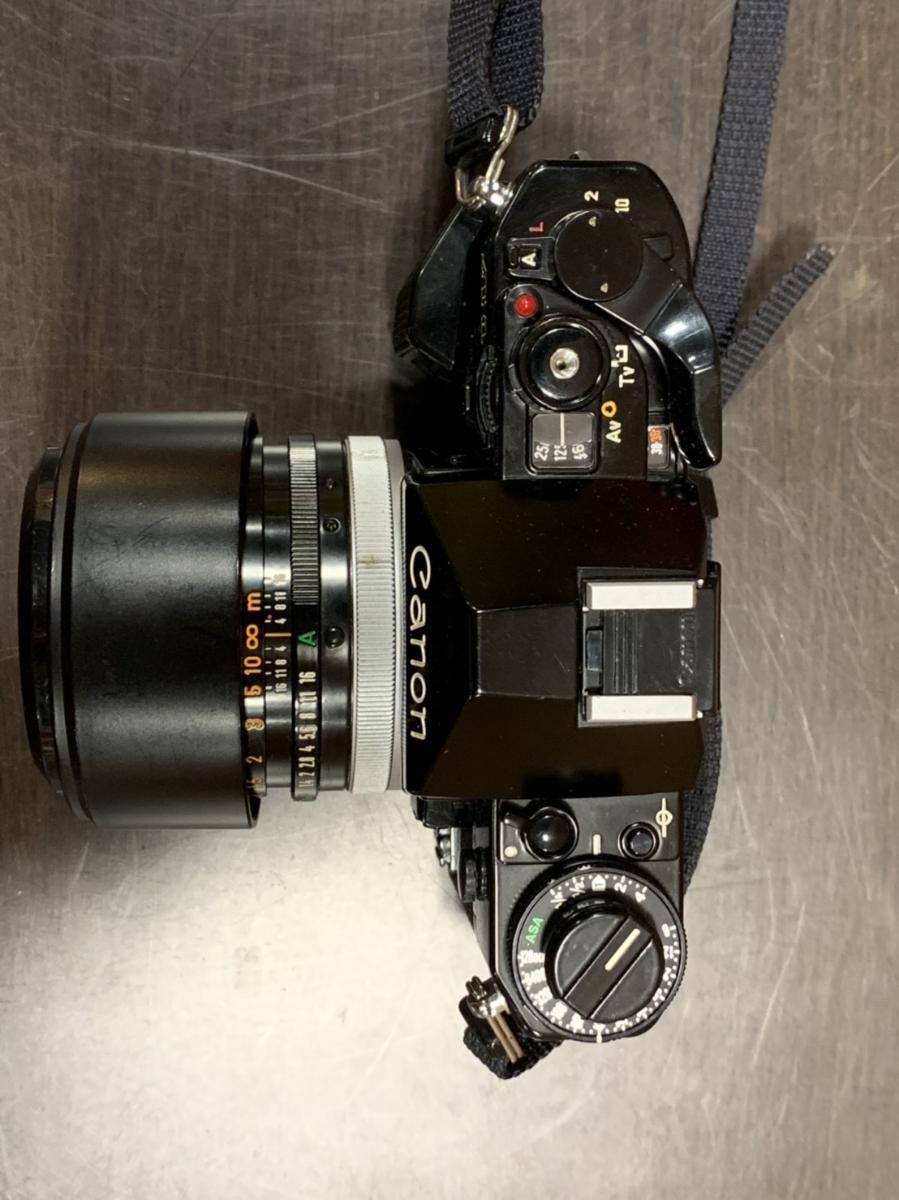 △Canon キャノン A-1 カメラ+FD 50mm 1:1.4+Tokina 80-200mm 1:4 レンズ(KS3-225)_画像3