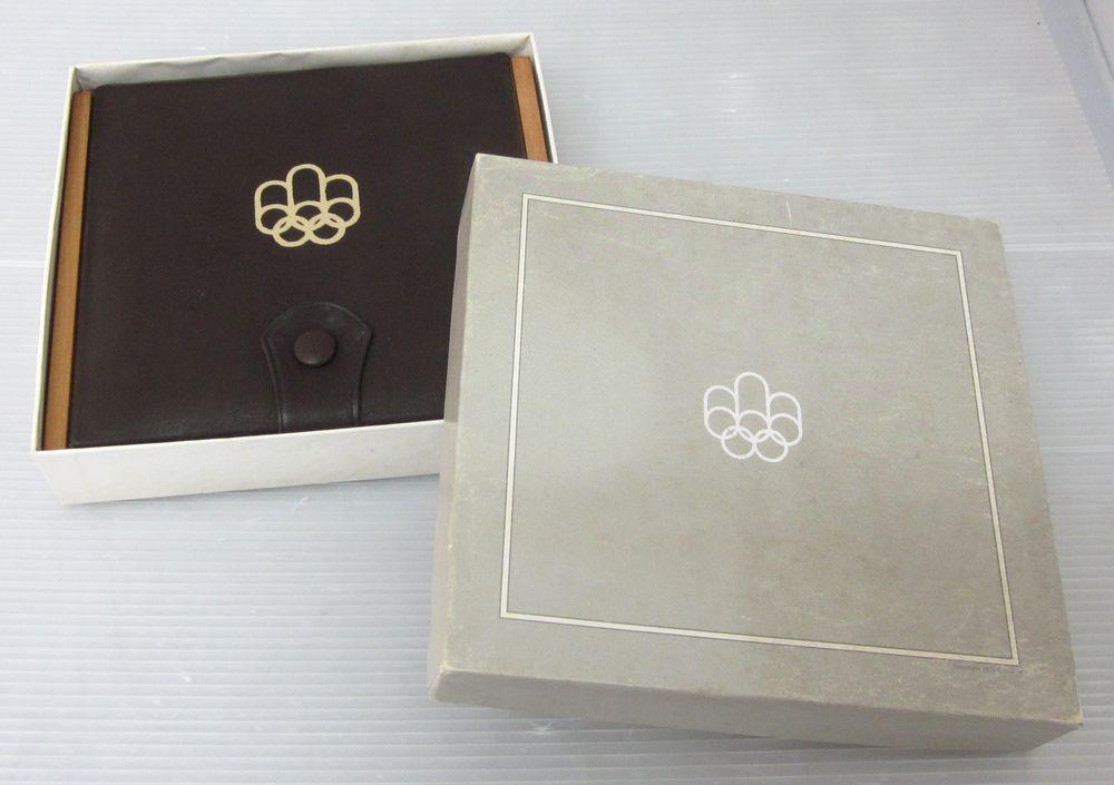 〇オリンピック モントリオール1976年〇カナダ貨幣コイン4枚セット【外装箱付き】〇ケースの蓋に目立つ汚れあり〇f521_画像2