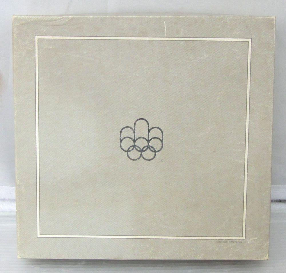 〇オリンピック モントリオール1976年〇カナダ貨幣コイン4枚セット【外装箱付き】〇ケースの蓋に目立つ汚れあり〇f521