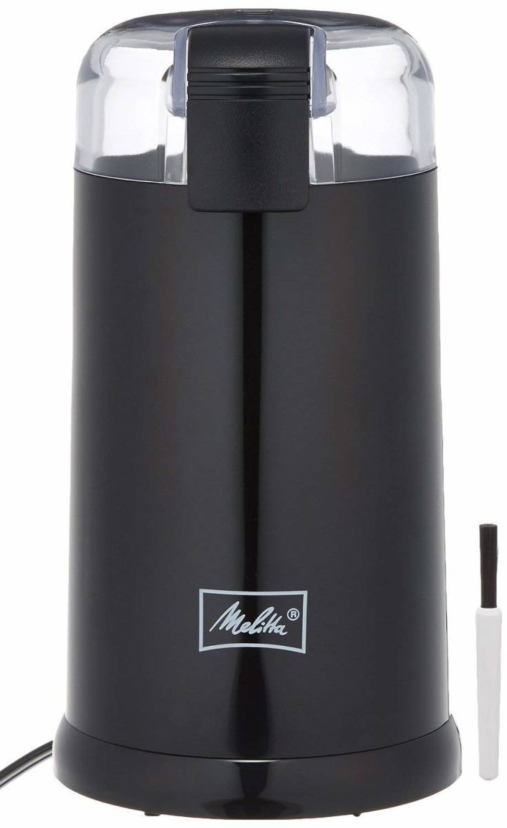 Melitta(メリタ) 電動 コーヒーミル ブラック ECG62-1B アロマフィルター・ペーパー100枚付き_画像1