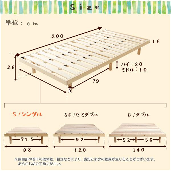 送料無料 シングル すのこベッド フレームのみ 新品 送料込み 最安値_画像2