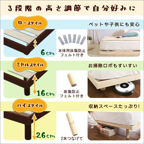 送料無料 シングル すのこベッド フレームのみ 新品 送料込み 最安値_画像4