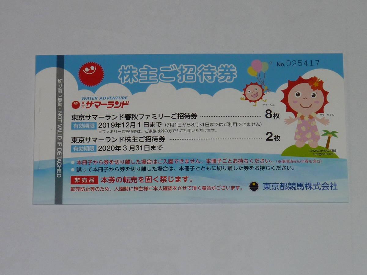 東京サマーランドフリーパス券10枚セット_画像1