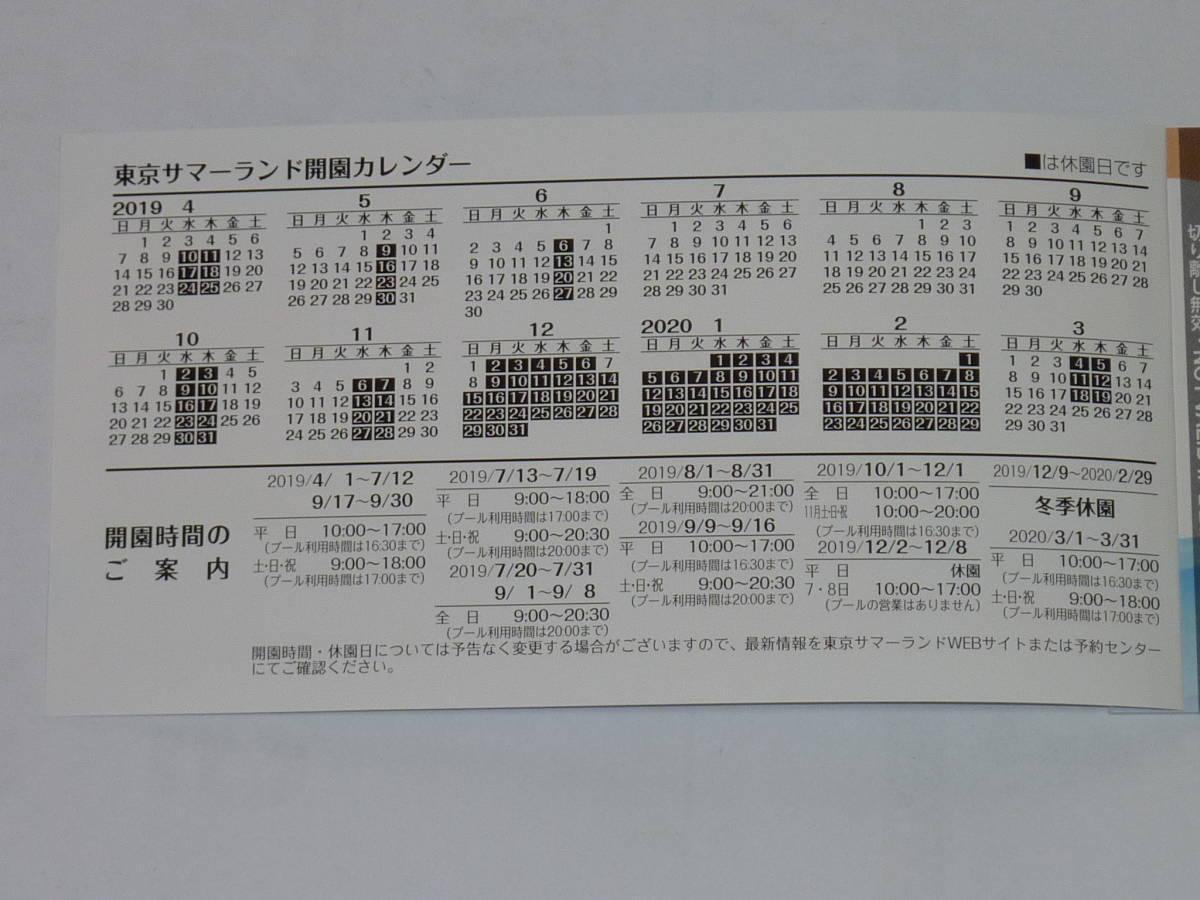 東京サマーランドフリーパス券10枚セット_画像2