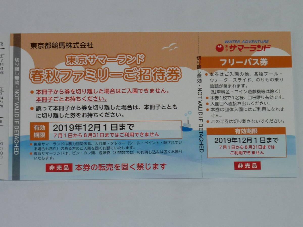 東京サマーランドフリーパス券10枚セット_画像3