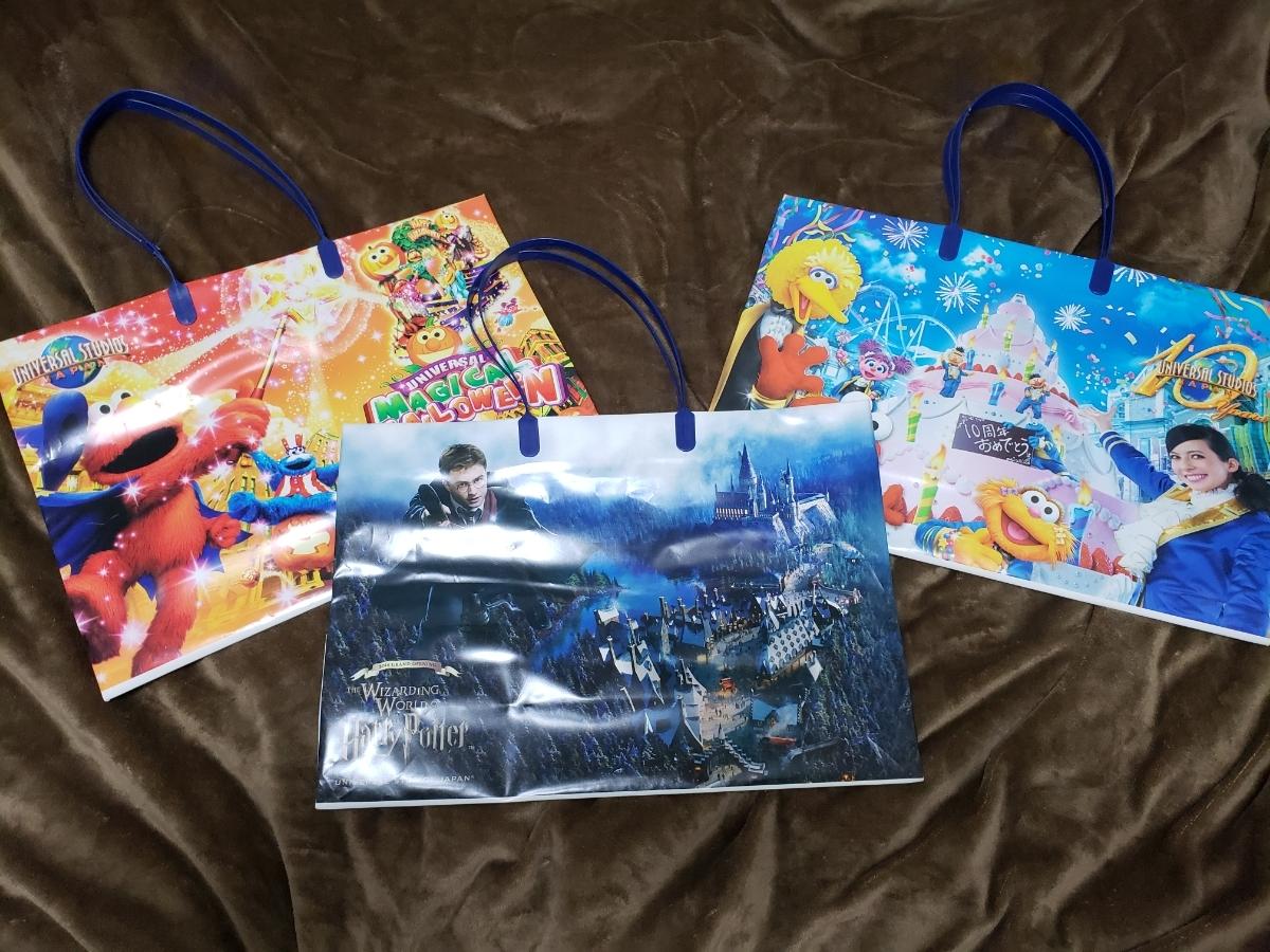 ユニバーサルスタジオジャパン ユニバ USJ ショッピングバッグ 10周年 マジカルハロウィン ハリーポッター ショッパー お土産 袋_画像1