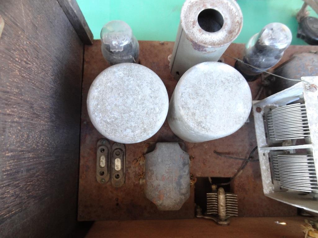 古い真空管ラジオ 作動不明 ジャンク  部品取りに 古い真空管_画像7