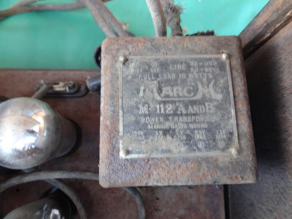 古い真空管ラジオ 作動不明 ジャンク  部品取りに 古い真空管_画像9