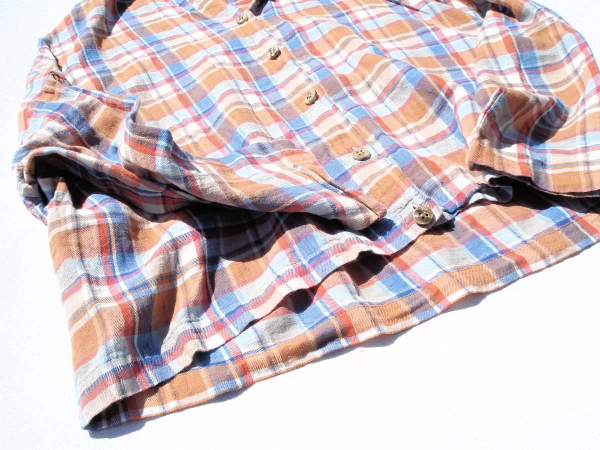 ◆美品♪JOURNAL STANDARD ジャーナルスタンダード◆おしゃれな変形♪ワイド 綿麻 ツイル チェック柄 ビッグ2WAYシャツ ブラウス♪☆y9_画像5