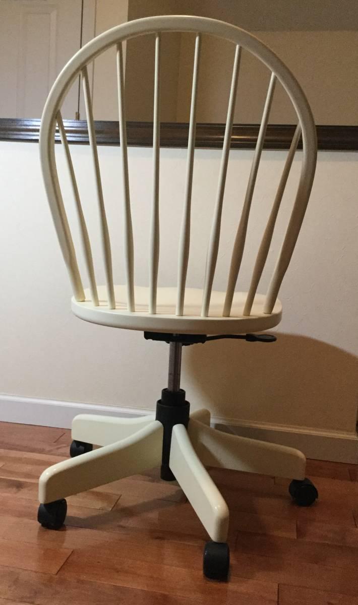 【送料無料】チェア 椅子 イーセンアーレン ETHAN ALLEN アメリカ製 高さ調整 アジャスト 白 ホワイト アンティーク調_画像3