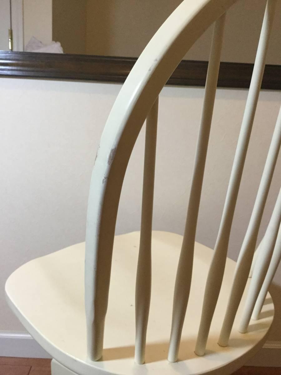 【送料無料】チェア 椅子 イーセンアーレン ETHAN ALLEN アメリカ製 高さ調整 アジャスト 白 ホワイト アンティーク調_画像6