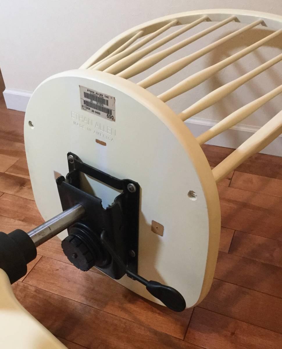【送料無料】チェア 椅子 イーセンアーレン ETHAN ALLEN アメリカ製 高さ調整 アジャスト 白 ホワイト アンティーク調_画像5