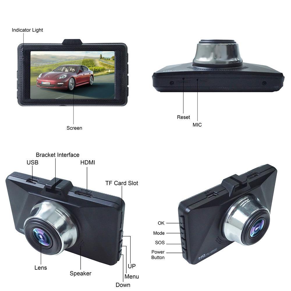 2019版 GPS/ADAS/WDR/4K! 対応 高画質 広角170° ミニ ドラレコ 搭載 ドライブ レコーダー 衝撃録画 常時録画 駐車監視 動体検知 3インチ_画像9