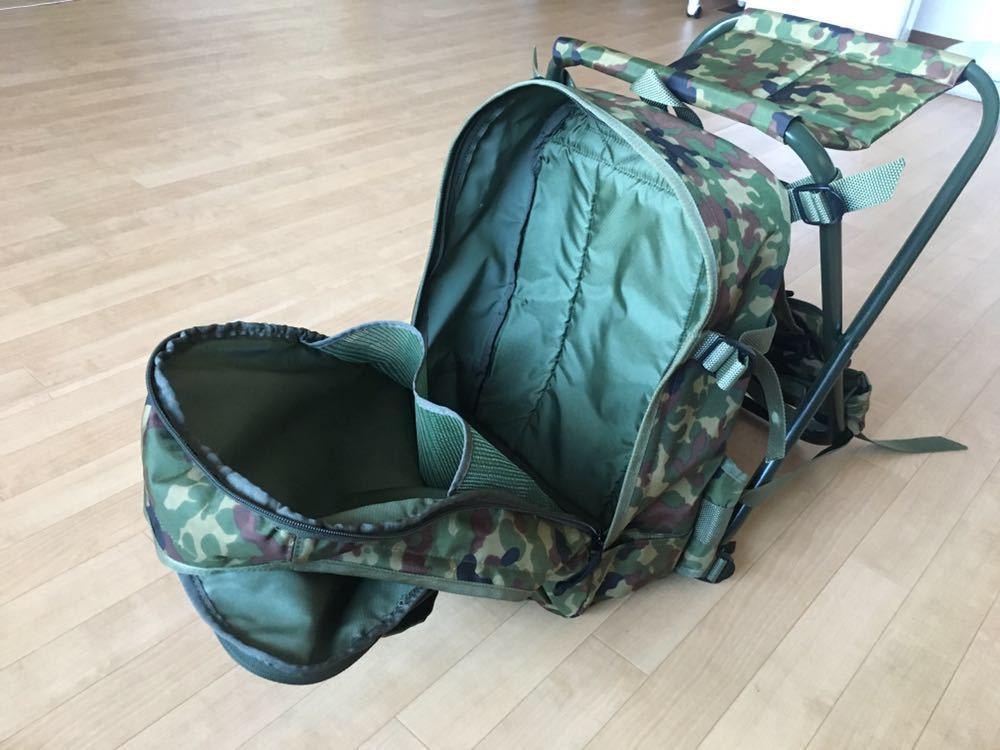 陸上自衛隊 スツールディパック 椅子付きリュックサック 登山 サバゲー 自衛隊装備 リュック ディパック_画像9