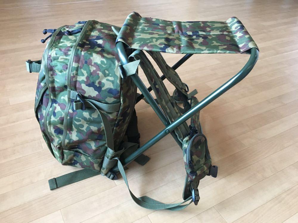 陸上自衛隊 スツールディパック 椅子付きリュックサック 登山 サバゲー 自衛隊装備 リュック ディパック_画像2