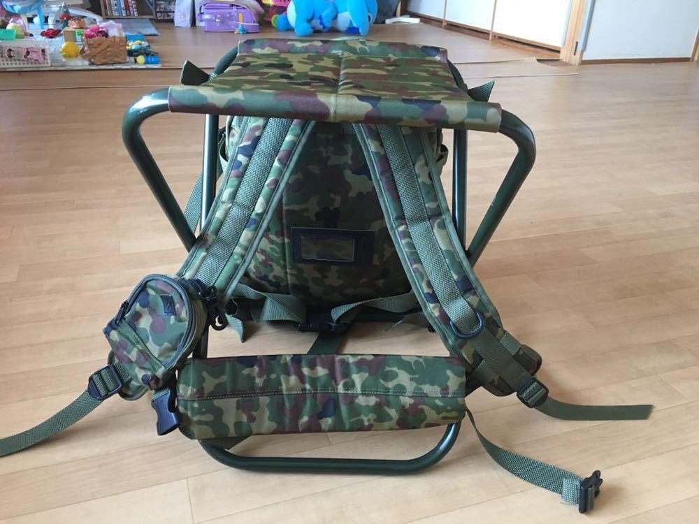 陸上自衛隊 スツールディパック 椅子付きリュックサック 登山 サバゲー 自衛隊装備 リュック ディパック_画像4