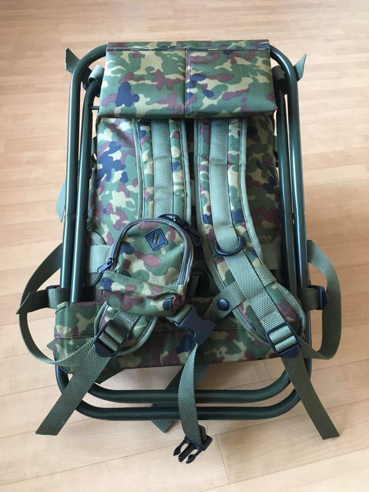陸上自衛隊 スツールディパック 椅子付きリュックサック 登山 サバゲー 自衛隊装備 リュック ディパック_画像5