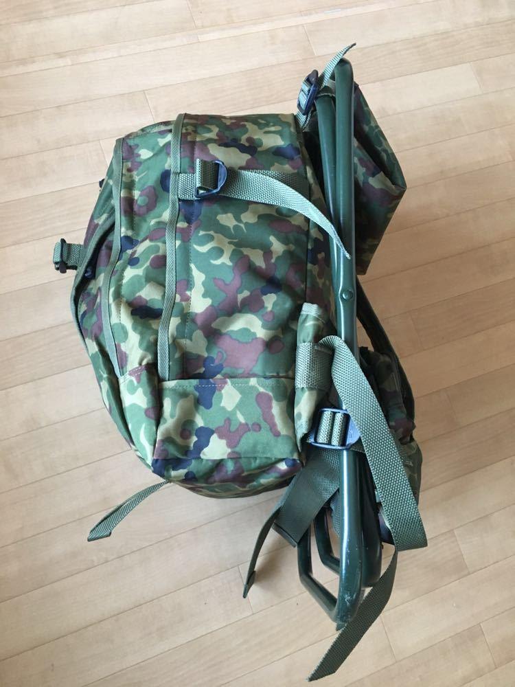 陸上自衛隊 スツールディパック 椅子付きリュックサック 登山 サバゲー 自衛隊装備 リュック ディパック_画像6