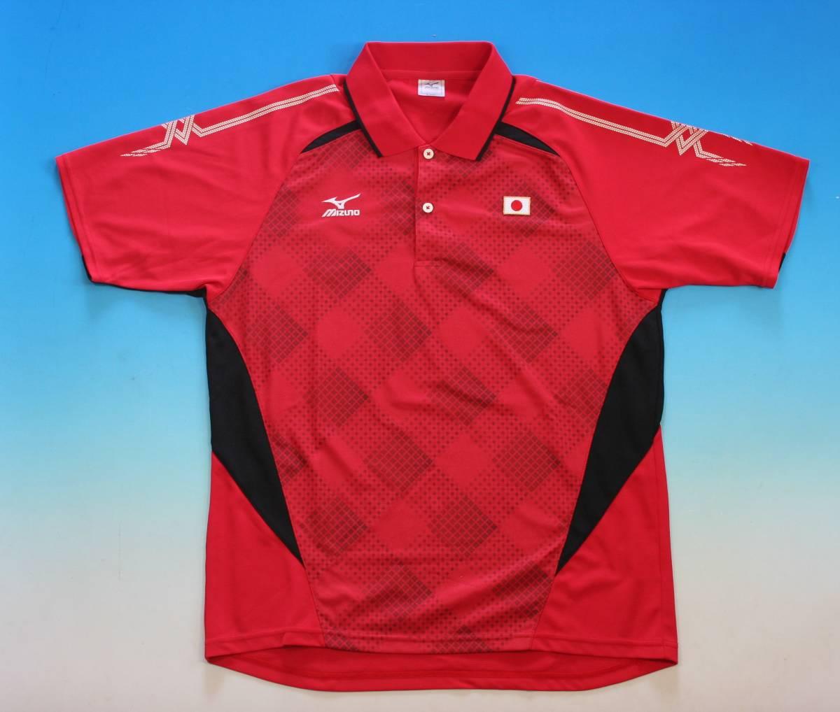非売品★ MIZUNO(ミズノ)ソフトテニス日本代表 JAPAN ゲームシャツ(レッド)+プラシャツの2枚組_画像2