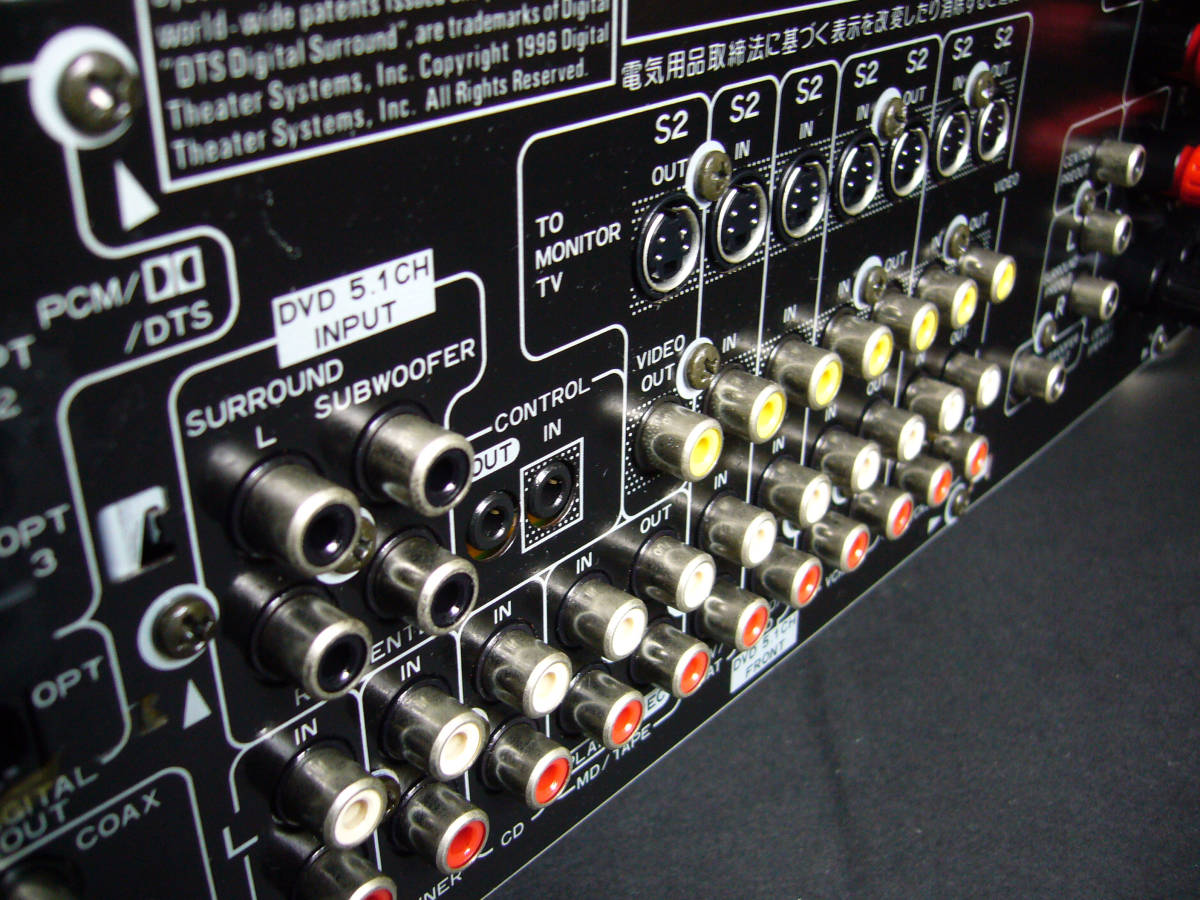 Pioneer パイオニア AVアンプ VSA-D6【美品】ゴールド_画像9